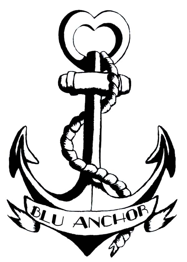 Anchor, : Blu Anchor Logo Coloring Pages