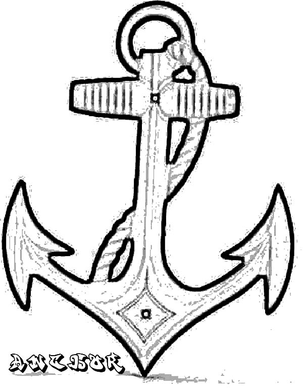 Anchor, : Boat Accessory Anchor Coloring Pages