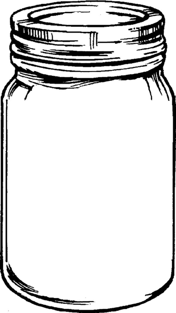 Jar, : Breast Milk Jar Coloring Pages
