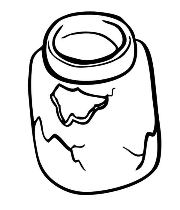 Jar, : Broken Cookie Jar Coloring Pages