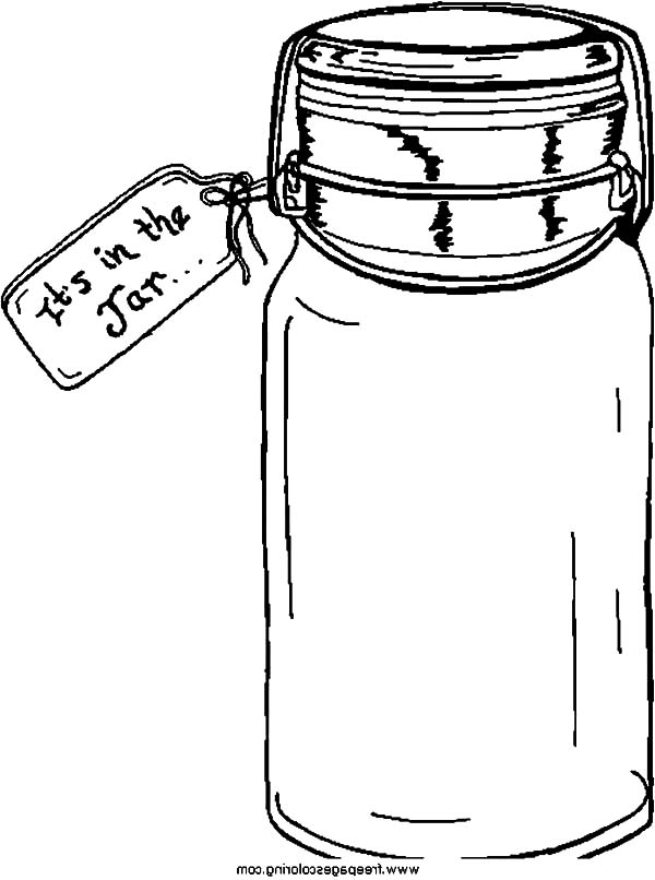 Jar, : Buying Cookie Jar Coloring Pages
