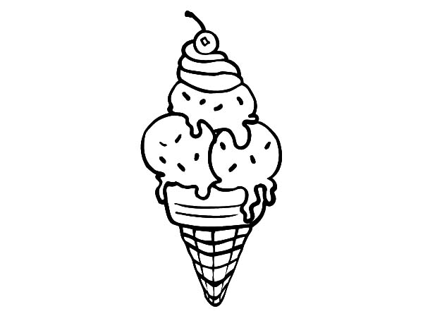 Ice Cream Cone, : Buying Ice Cream Cone Coloring Pages