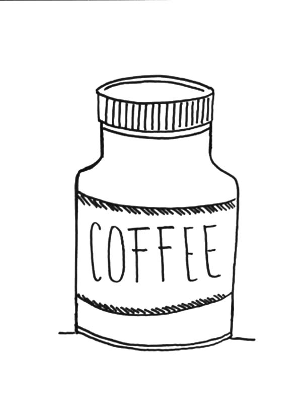 Jar, : Coffee Jar Coloring Pages