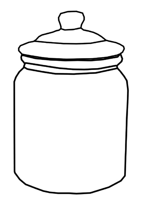 Jar, : Cookie Jar Coloring Pages