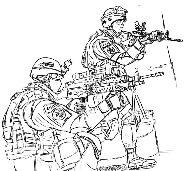Army, : Country Hero Army Coloring Pages