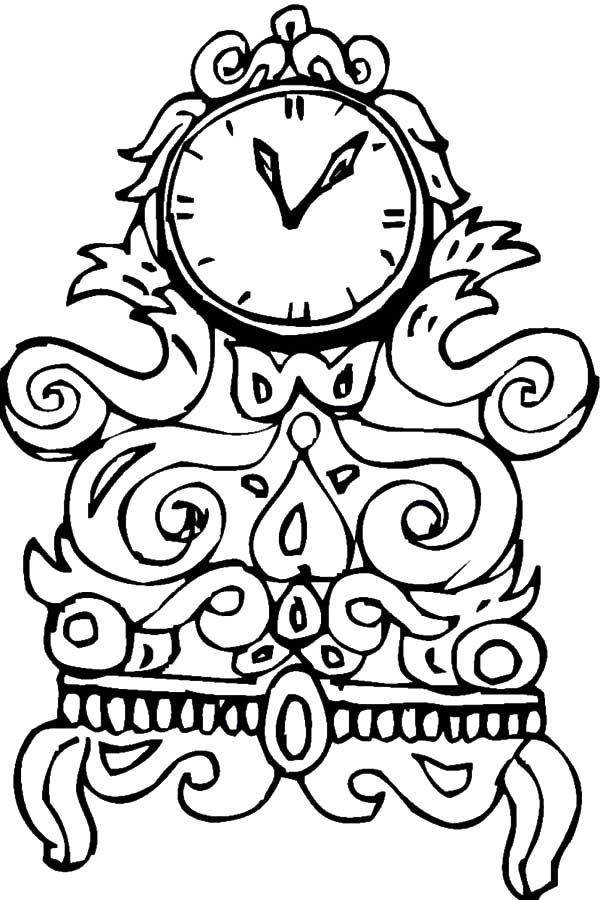 Analog Clock, : Craving Designs Analog Clock Coloring Pages