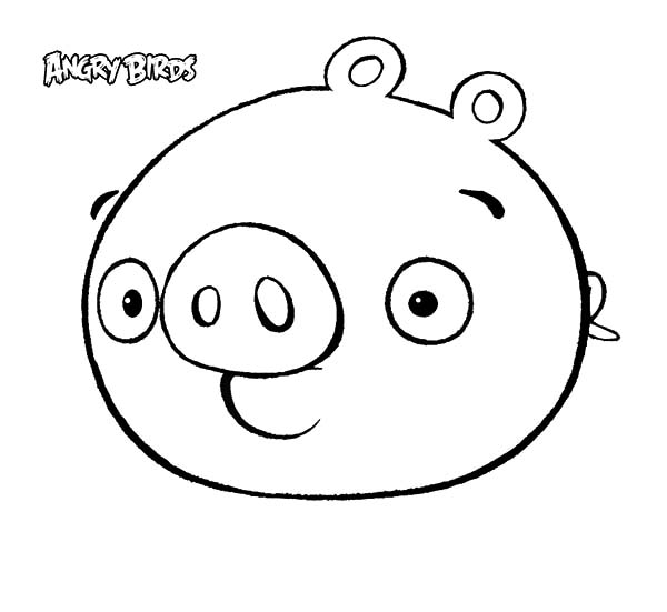 Angry Bird Pigs, : Cute Angry Bird Pigs Coloring Pages