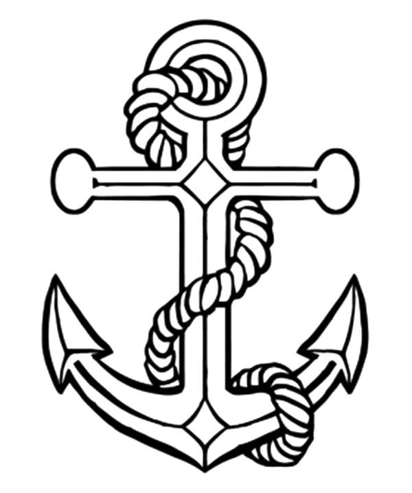 Anchor, : Day of the Seafarer Anchor Coloring Pages