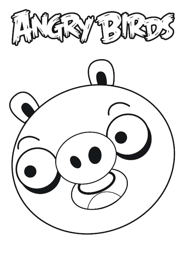 Angry Bird Pigs, : Drawing Angry Bird Pigs Coloring Pages