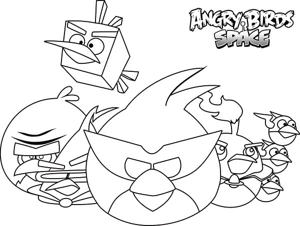 Angry Bird Space, : Drawing Angry Bird Space Coloring Pages