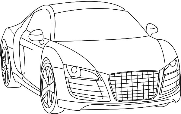 Audi Cars, : Drawing Audi Cars R8 Coloring Pages