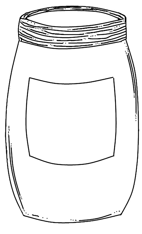 Jar, : Empty Jar Coloring Pages