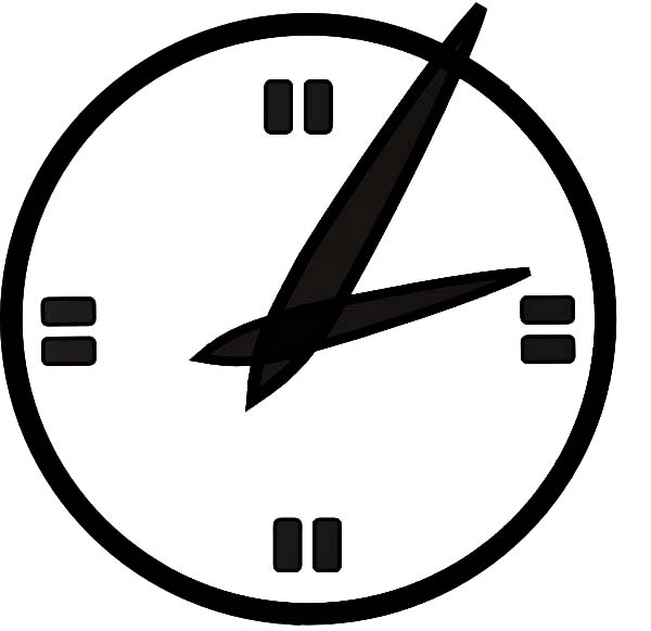 Analog Clock, : Futuristic Analog Clock Coloring Pages