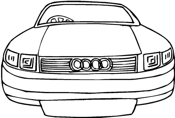 Audi Cars, : German Audi Cars Coloring Pages