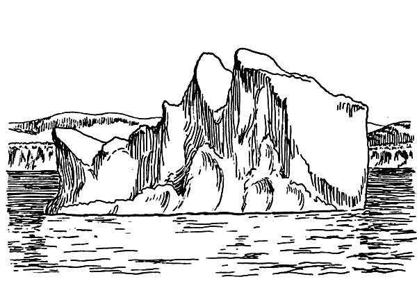 Iceberg, : Giant Iceberg Coloring Pages