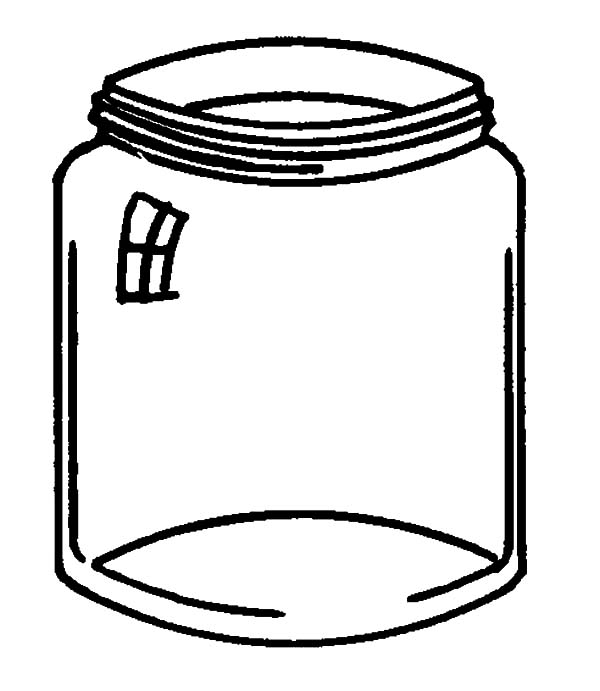 Jar, : Glass Jar Coloring Pages