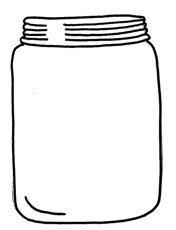 Jar, : Glass Jar with Cover Coloring Pages