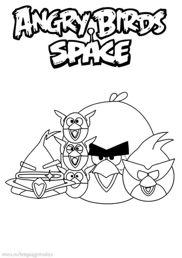 Angry Bird Space, : Happy Angry Bird Space Coloring Pages