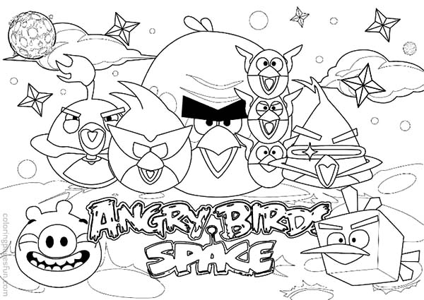 Angry Bird Space, : How to Draw Angry Bird Space Coloring Pages