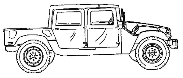 Army Car, : How to Draw Army Car Coloring Pages