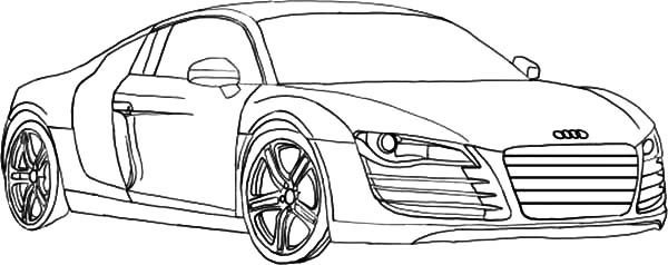 Audi Cars, : How to Draw Audi Cars Sedan Coloring Pages