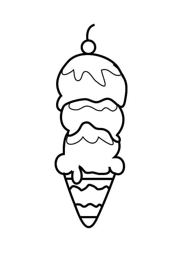 Ice Cream Cone, : How to Draw Ice Cream Cone Coloring Pages