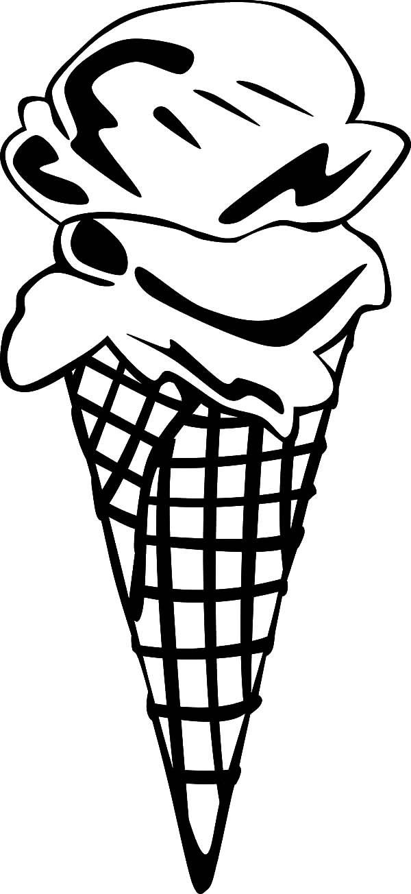Ice Cream Cone, : Ice Cream Cone (2 Scoop)