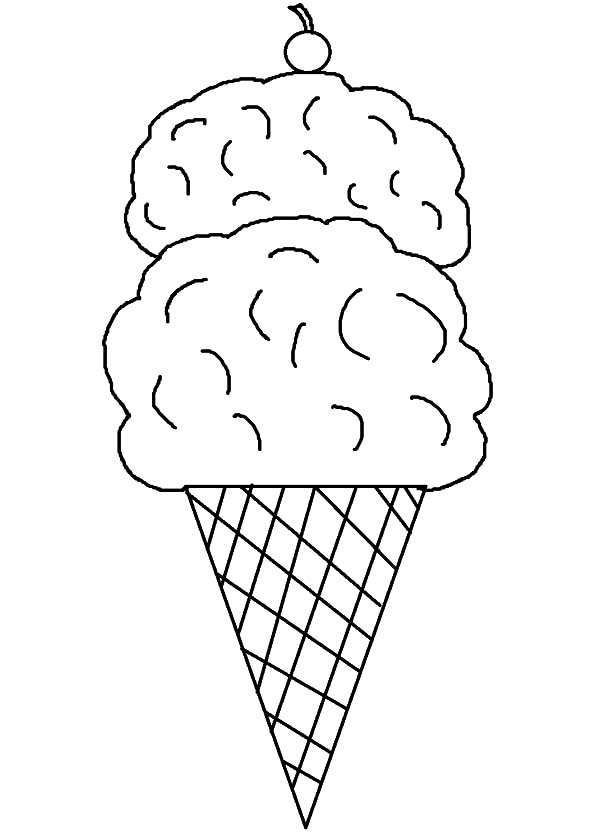 Ice Cream Cone, : Ice Cream Cone Picture Coloring Pages