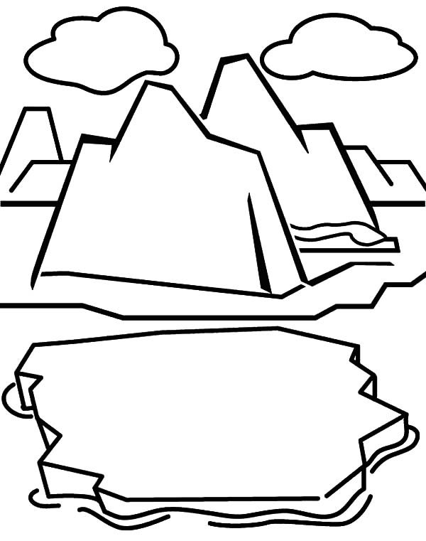 Iceberg, : Iceberg Cracking Coloring Pages