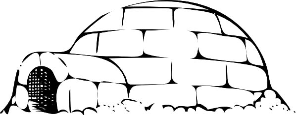 Igloo, : Igloo Coloring Pages