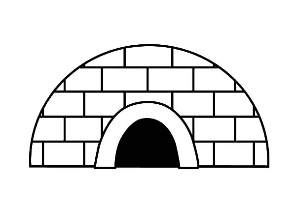 Igloo, : Igloo Front Door Coloring Pages