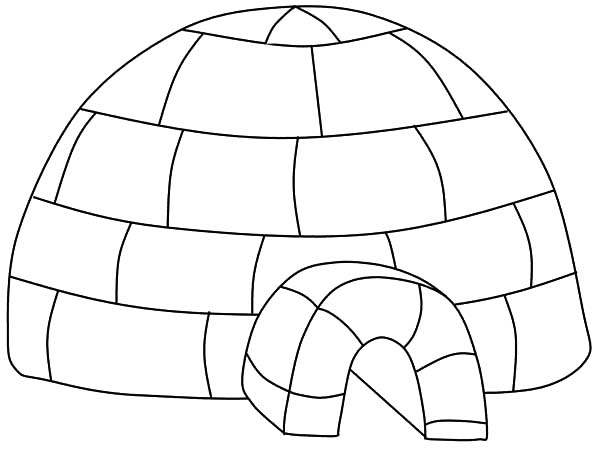 Igloo, : Igloo Place Where Eskimo Take Shelter Coloring Pages