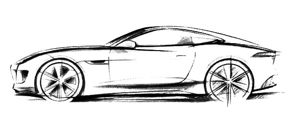 Jaguar Cars, : Jaguar C X16 Concept Cars Coloring Pages