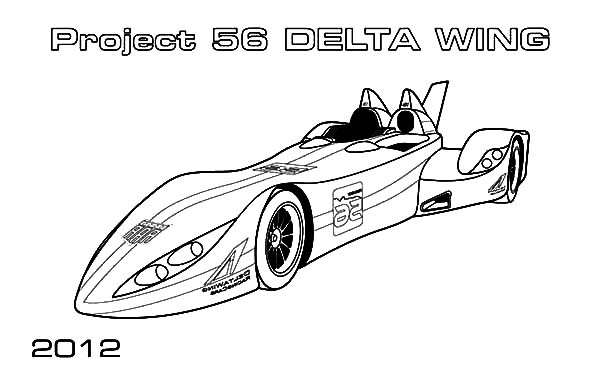 Jaguar Cars, : Jaguar Cars Project 56 Delta Wings Coloring Pages