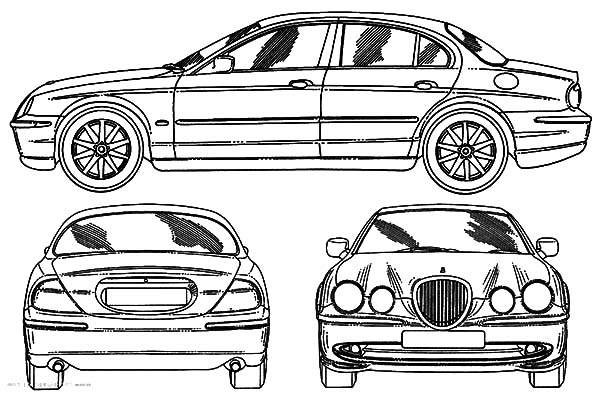 Jaguar Cars, : Jaguar X Type Cars Coloring Pages