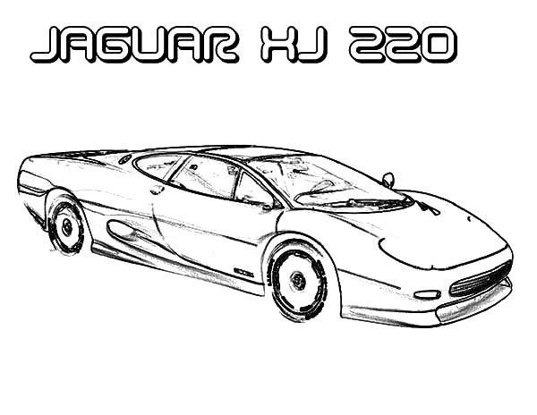 Jaguar Cars, : Jaguar XJ 220 Cars Coloring Pages