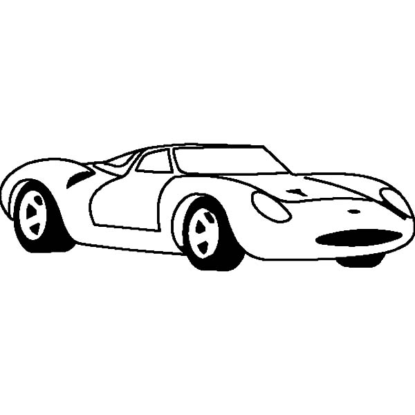 Jaguar Cars, : Jaguar XJ13 Cars 1965 Coloring Pages