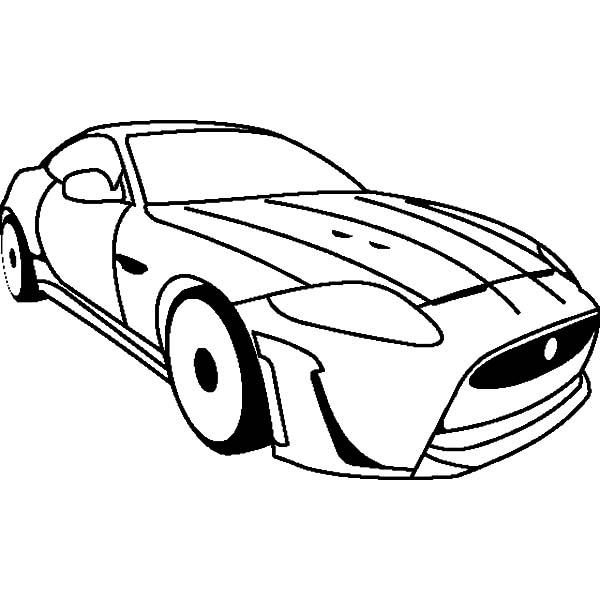 Jaguar Cars, : Jaguar XKR S Cars Coloring Pages