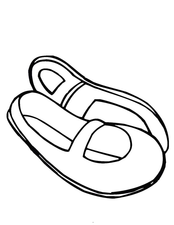 Ballerina Shoes, : Japanese Ballerina Shoes Coloring Pages