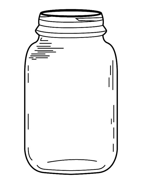 Jar, : Jar Coloring Pages for Kids
