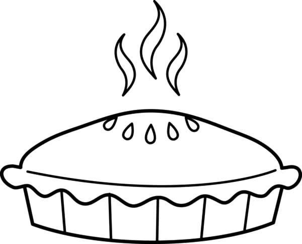Apple Pie, : Just Baked Apple Pie Coloring Pages