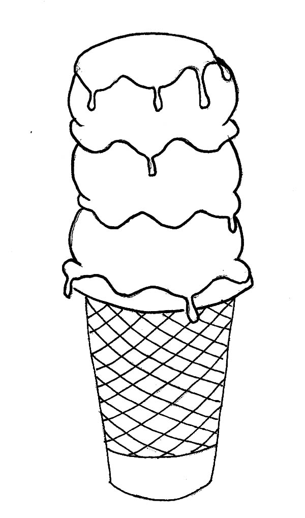 Ice Cream Cone, : Large Ice Cream Cone Coloring Pages