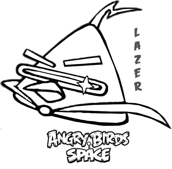 Angry Bird Space, : Lazer Bird Angry Bird Space Coloring Pages