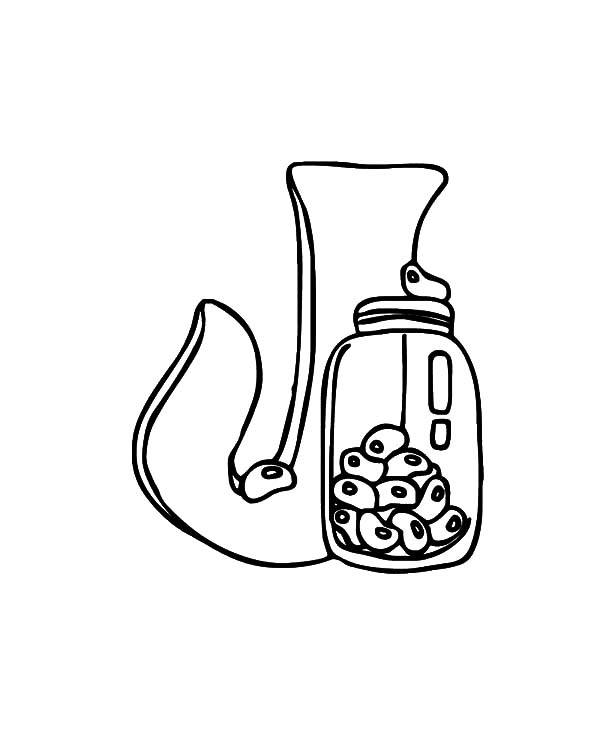 Jar, : Letter J is Jar Coloring Pages