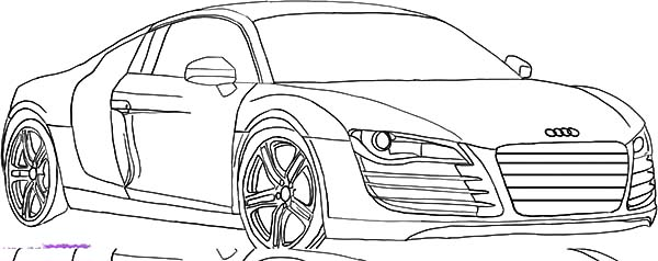 Audi Cars, : Luxurious Sedan Audi Cars Coloring Pages