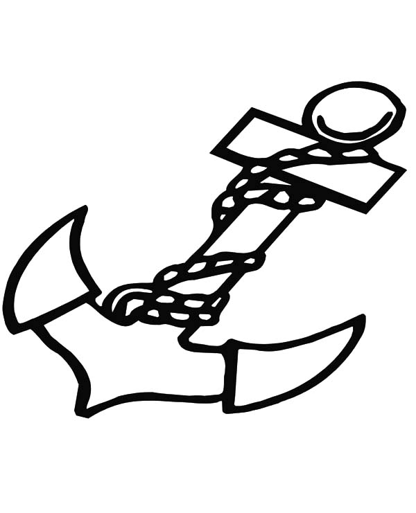 Anchor, : Marine Anchor Coloring Pages