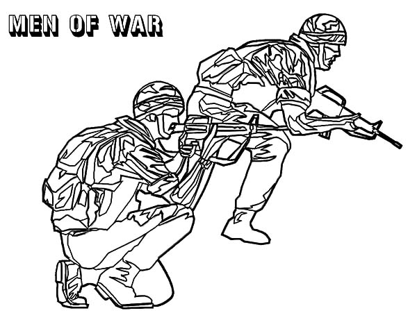 Army, : Men of War Army Coloring Pages