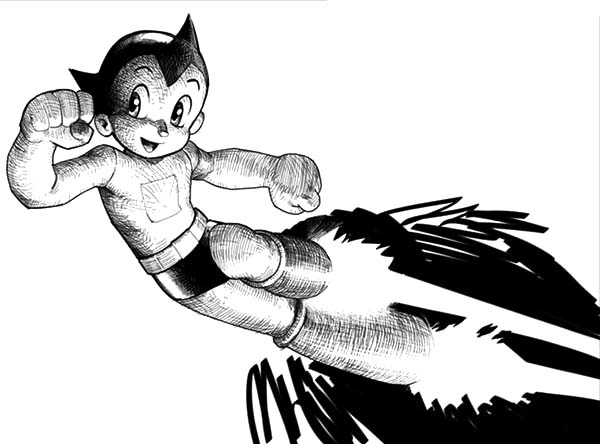 Astro Boy, : Mighty Atom Astro Boy Coloring Pages