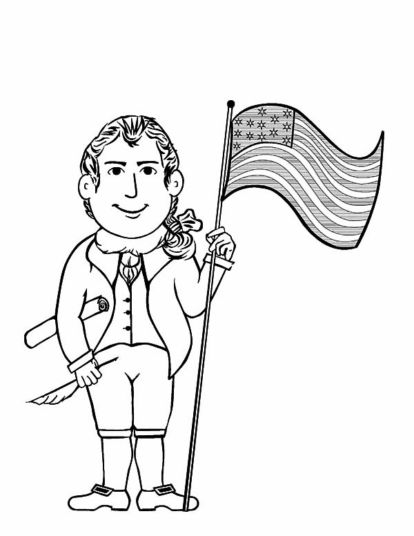 American Revolution Flag, : Molly and Francis American Revolution Flag Coloring Pages