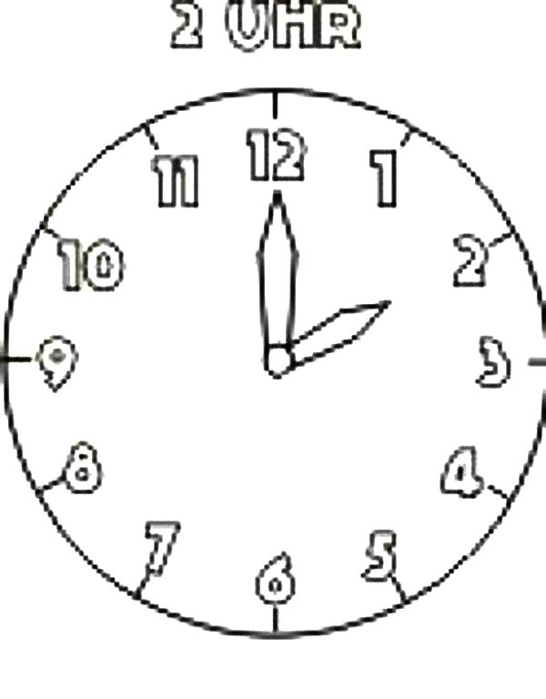 Analog Clock, : My Analog Clock Coloring Pages